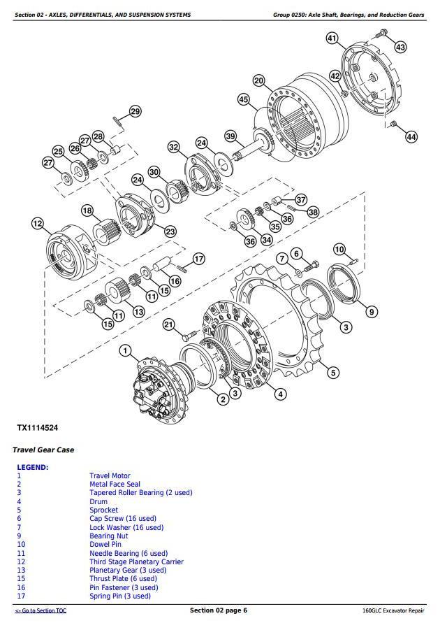 TM13193X19 - John Deere 160GLC (PIN:1F9160GX__D055001-) Excavator Service Repair Technical Manual - 1