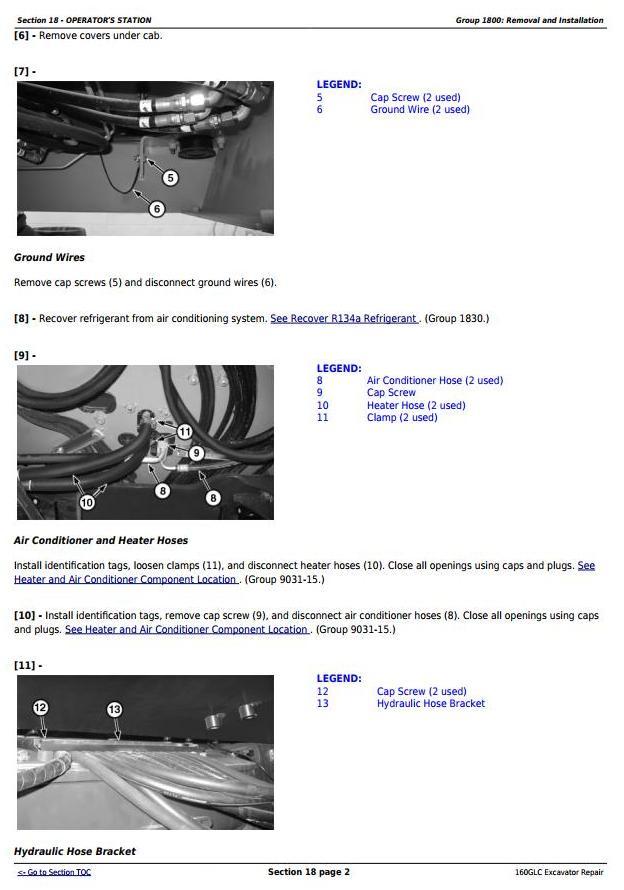 TM13193X19 - John Deere 160GLC (PIN:1F9160GX__D055001-) Excavator Service Repair Technical Manual - 2