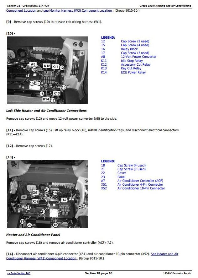 TM13195X19 - John Deere 180GLC (PIN: 1F9180GX__D020001-) Excavator Service Repair Technical Manual - 1