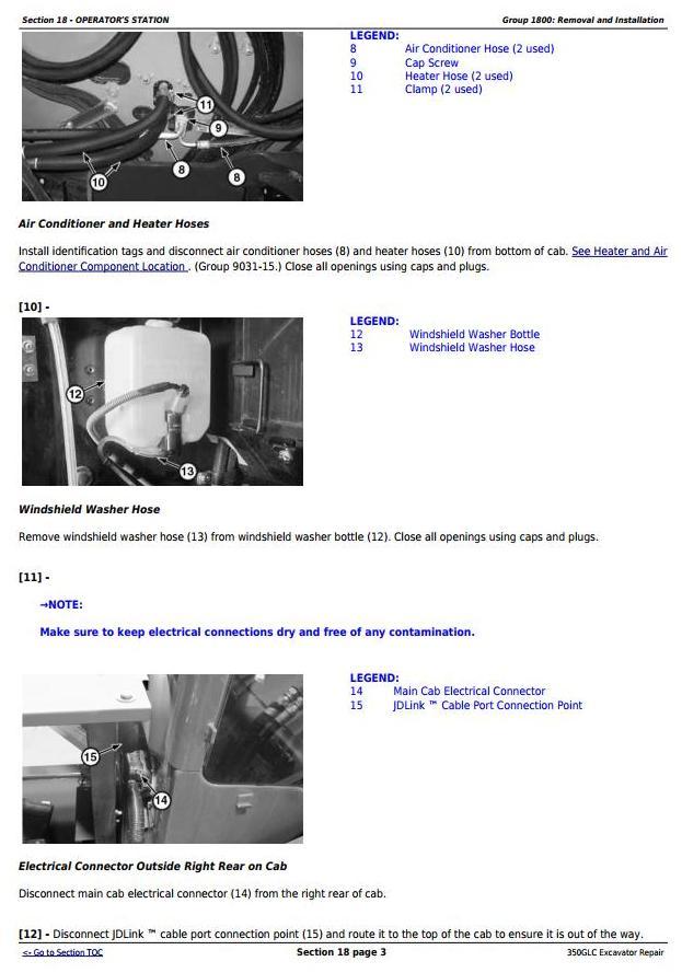 TM13197X19 - John Deere 350GLC Excavator Service Repair Technical Manual - 2