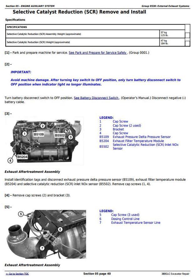 TM13205X19 - John Deere 380GLC Excavator (PIN: 1FF380GX__F900006-) Service Repair Technical Manual - 1