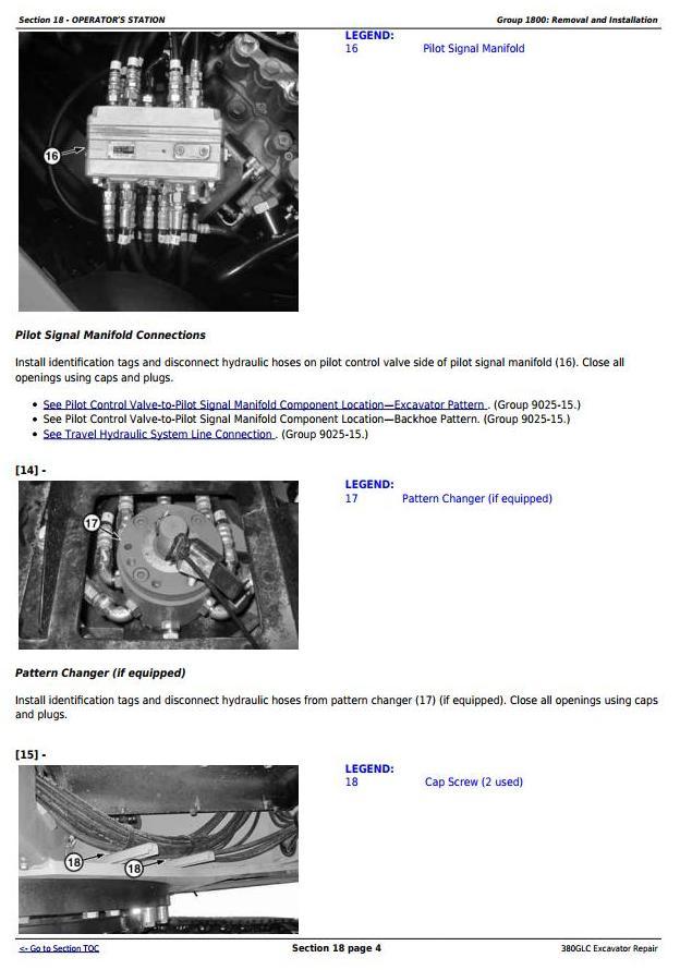 TM13205X19 - John Deere 380GLC Excavator (PIN: 1FF380GX__F900006-) Service Repair Technical Manual - 2
