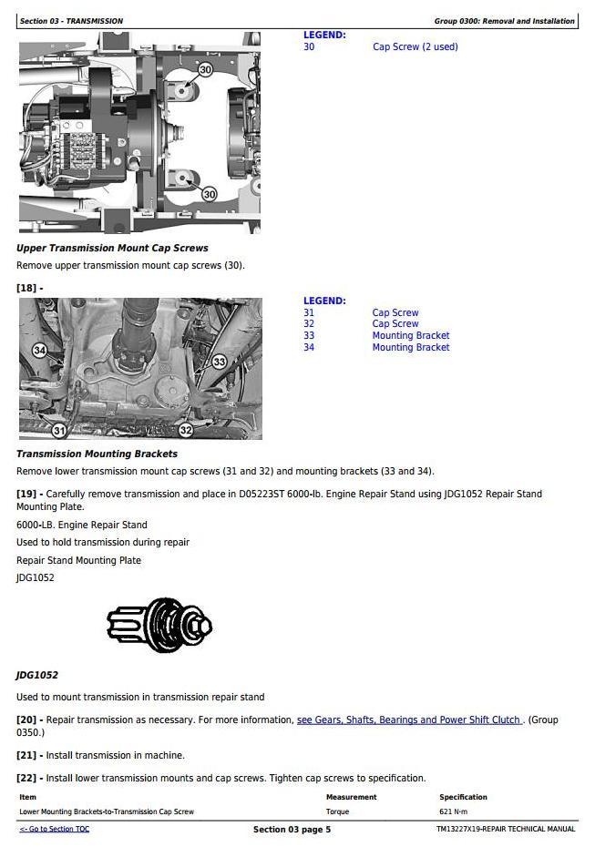 TM13227X19 - John Deere 824K Series II (SN: from C664100, D664100) 4WD Loader Service Repair Manual - 1