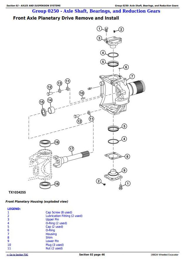 TM13248X19 - John Deere 190GW (PIN: 1FF190GW__E051001-) Wheeled Excavator Service Repair Manual - 1