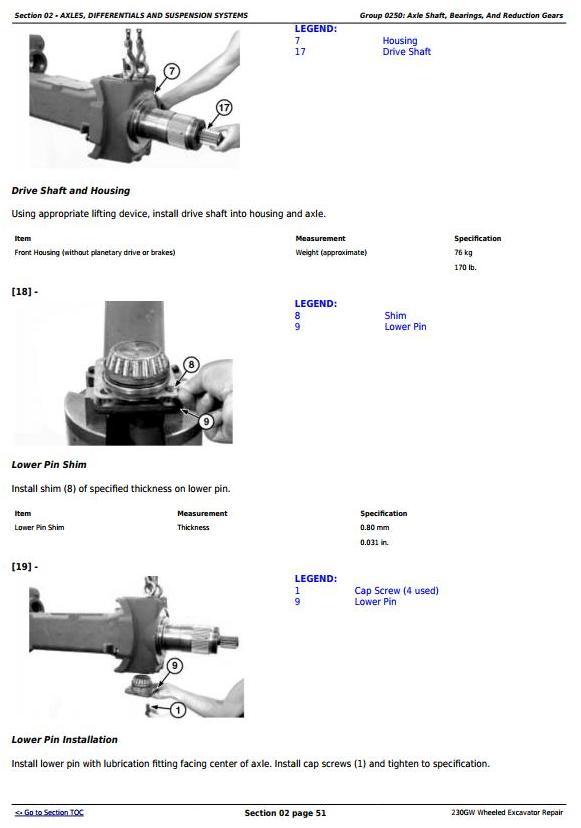 TM13250X19 - John Deere 230GW Wheeled Excavator Service Repair Manual - 1