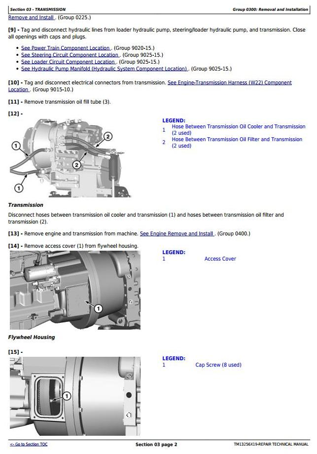 TM13256X19 - John Deere WL53 4WD Loader (SN. D100008—100079) Service Repair Technical Manual - 1