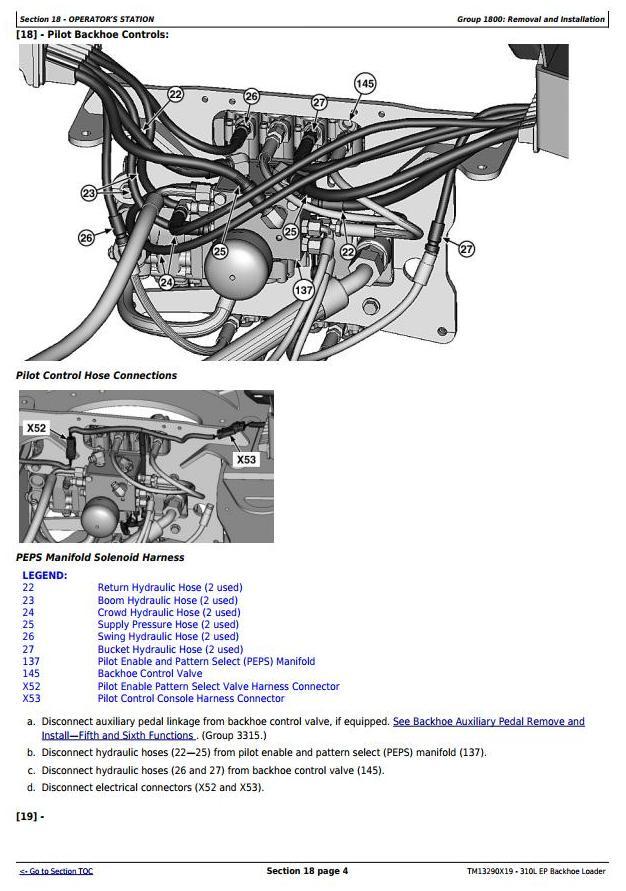TM13290X19 - John Deere 310L EP Backhoe Loader (S.N.273920-329327) Service Repair Technical Manual - 2