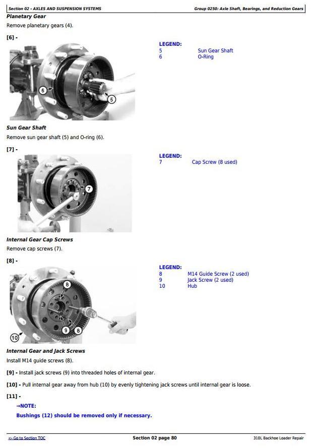 TM13292X19 - John Deere 310L Backhoe Loader (SN. from 273920) Service Repair Technical Manual - 1