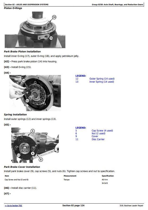 TM13292X19 - John Deere 310L Backhoe Loader (SN. from 273920) Service Repair Technical Manual - 2