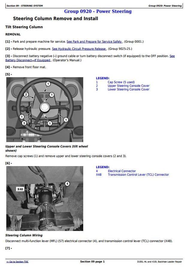 TM13300X19 - John Deere 310SL HL, 410L Backhoe Loader (SN.273920-) Service Repair Technical Manual - 1