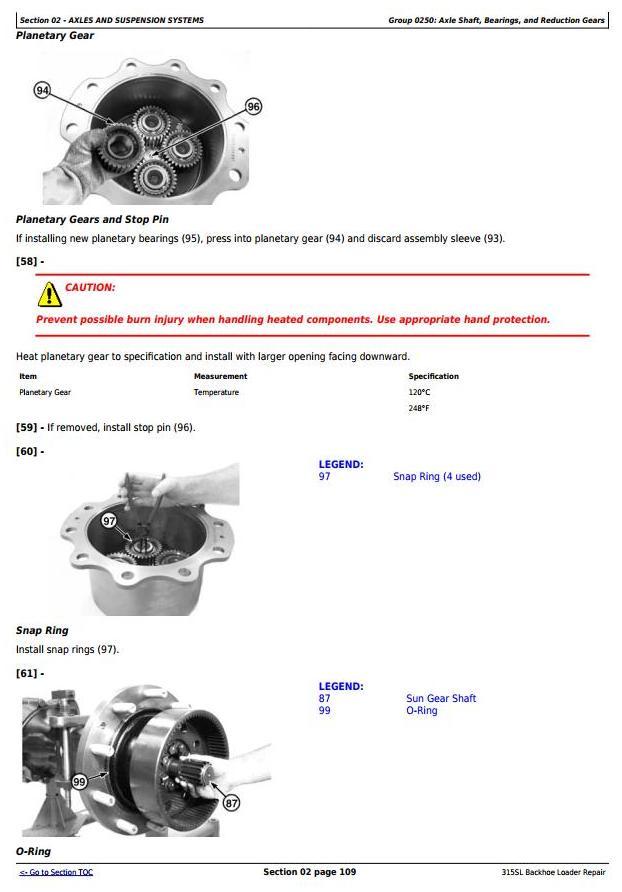 TM13304X19 - John Deere 315SL Backhoe Loader (PIN:1T0315SL**F273920-) Service Repair Technical Manual - 1