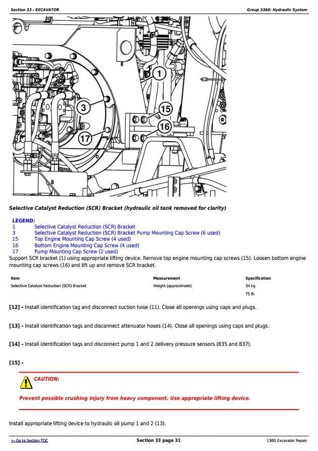 TM13348X19 - John Deere 130G (S.N: 1FF130GX_F040608) Excavator Service Repair Manual - 2