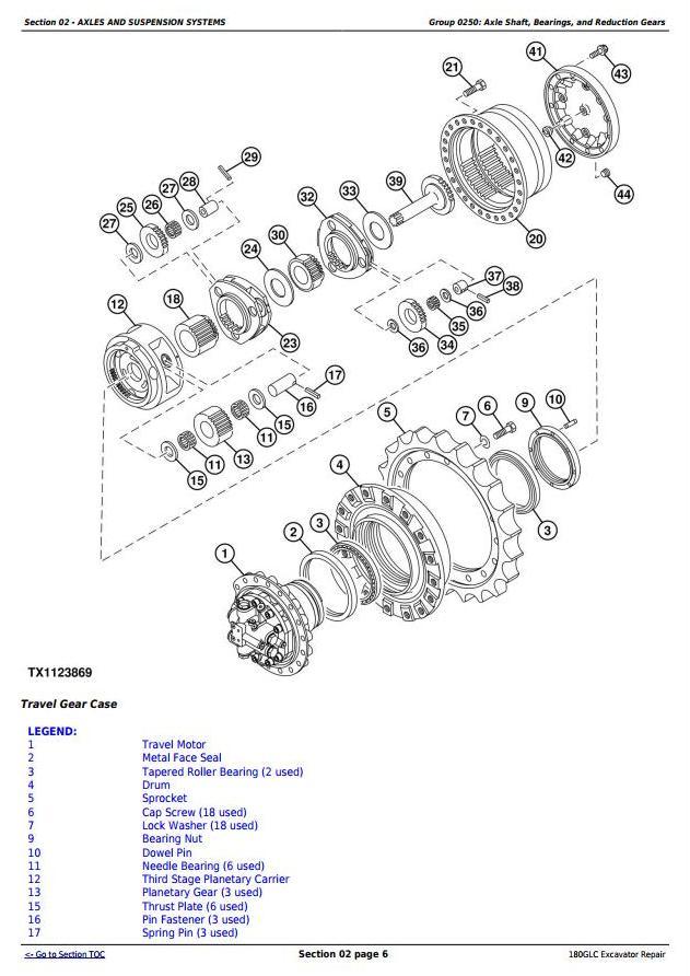 TM13350X19 - John Deere 180GLC (PIN: 1FF180GX__F020331-) Excavator Service Repair Manual - 1