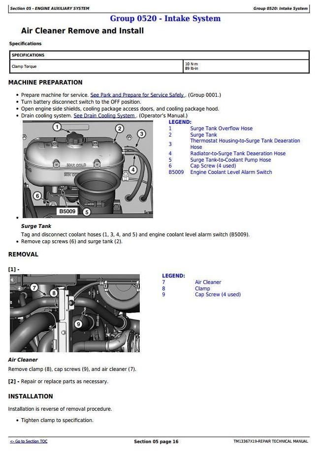 TM13367X19 - John Deere 444K 4WD Loader (SN. from F670308) Service Repair Technical Manual - 3