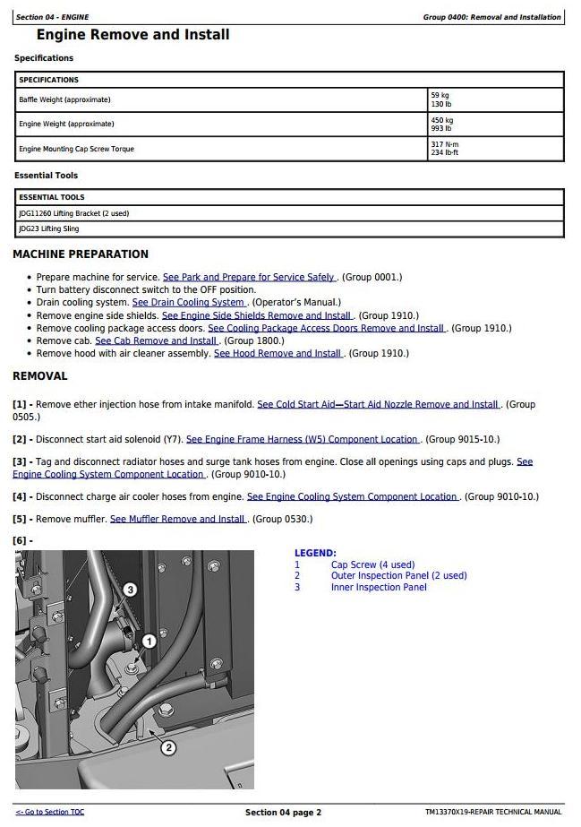 TM13370X19 - John Deere 444K 4WD Loader (SN. from D670308) Service Repair Technical Manual - 3