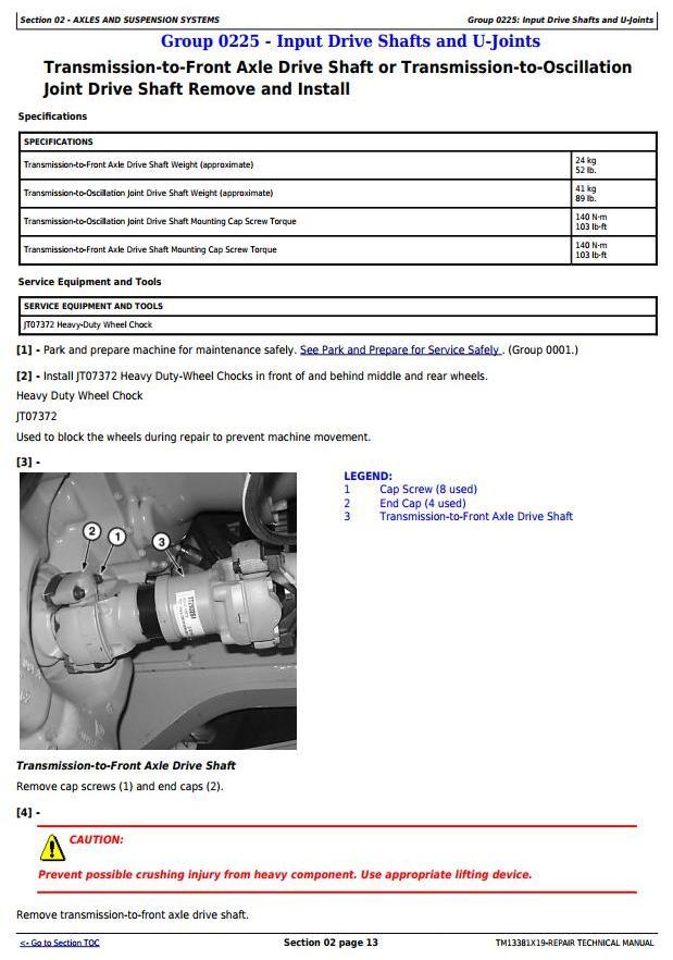 TM13381X19 - John Deere 370E, 410E, 460E ADT 1DW370E___D668588- Repair Technical Manual - 1