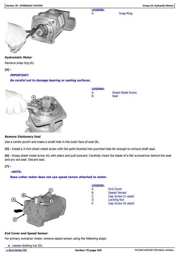 TM134019 - John Deere CH570, CH670 (PIN Prefix 1T8) Sugar Cane Harvester Service Repair Manual - 1
