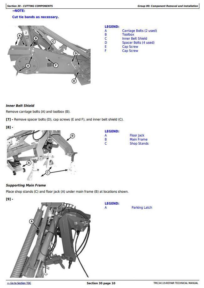TM134119 - John Deere R160, R200, R240, R280, R310 Hay&Forage Rotary Disk Mower Technnical Service Manual - 2