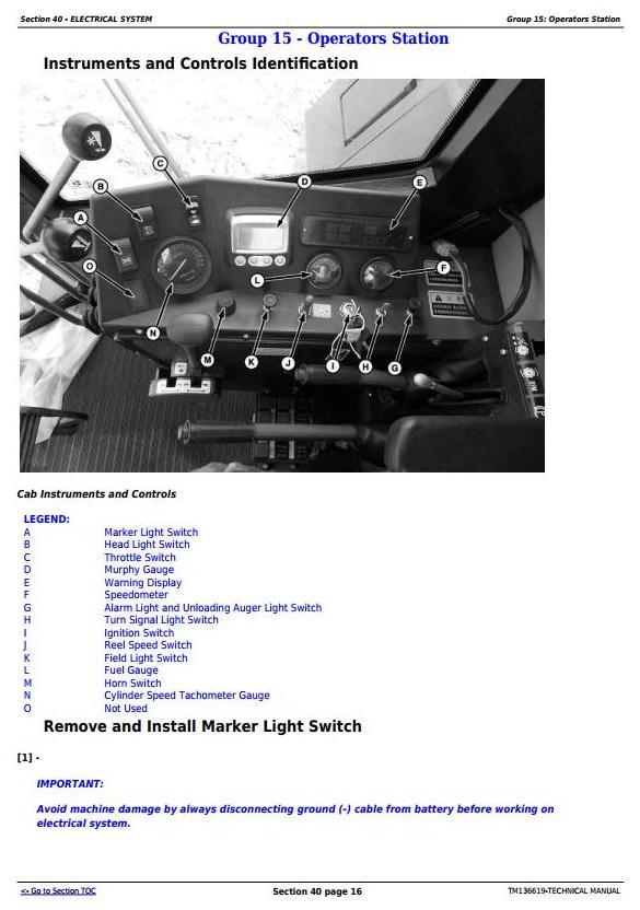 TM136619 - John Deere C240 (4LZ-13) Full-Feeding Combine Diagnostic and Repair Technical Manual - 1