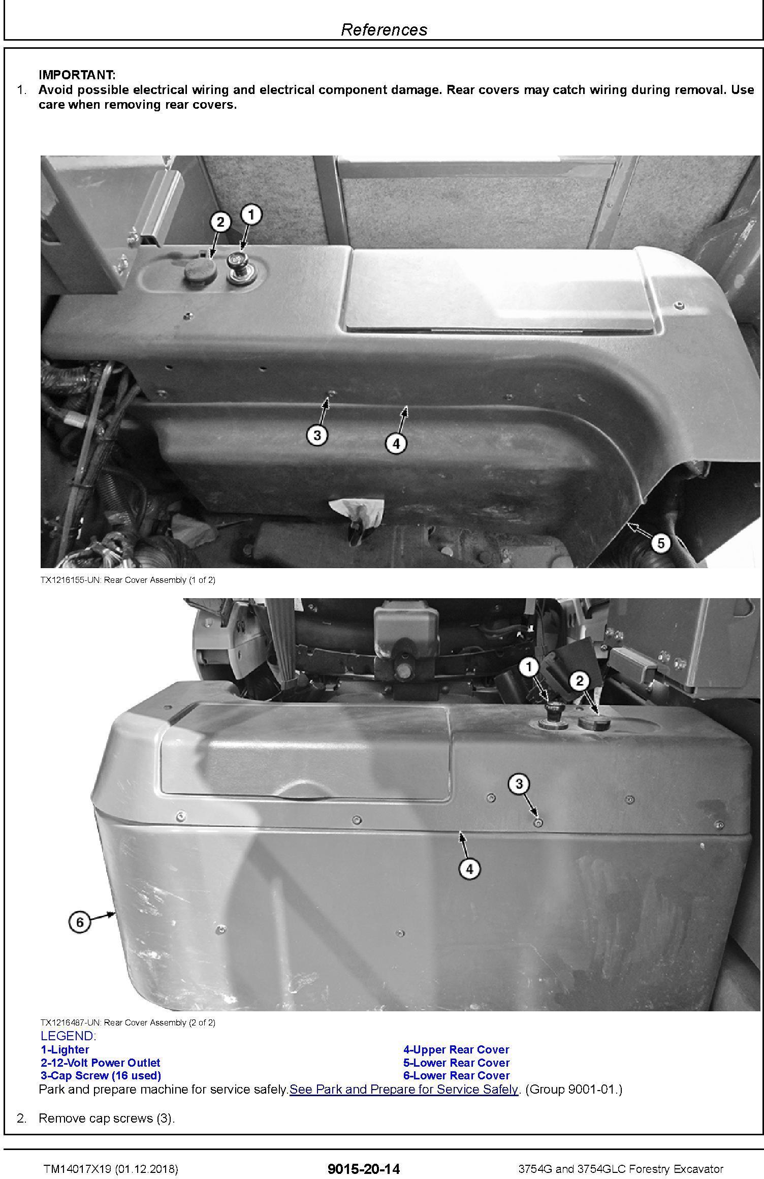 John Deere 3754G, 3754GLC (SN. D371001-) Forestry Excavator Diagnostic Technical Manual (TM14017X19) - 1