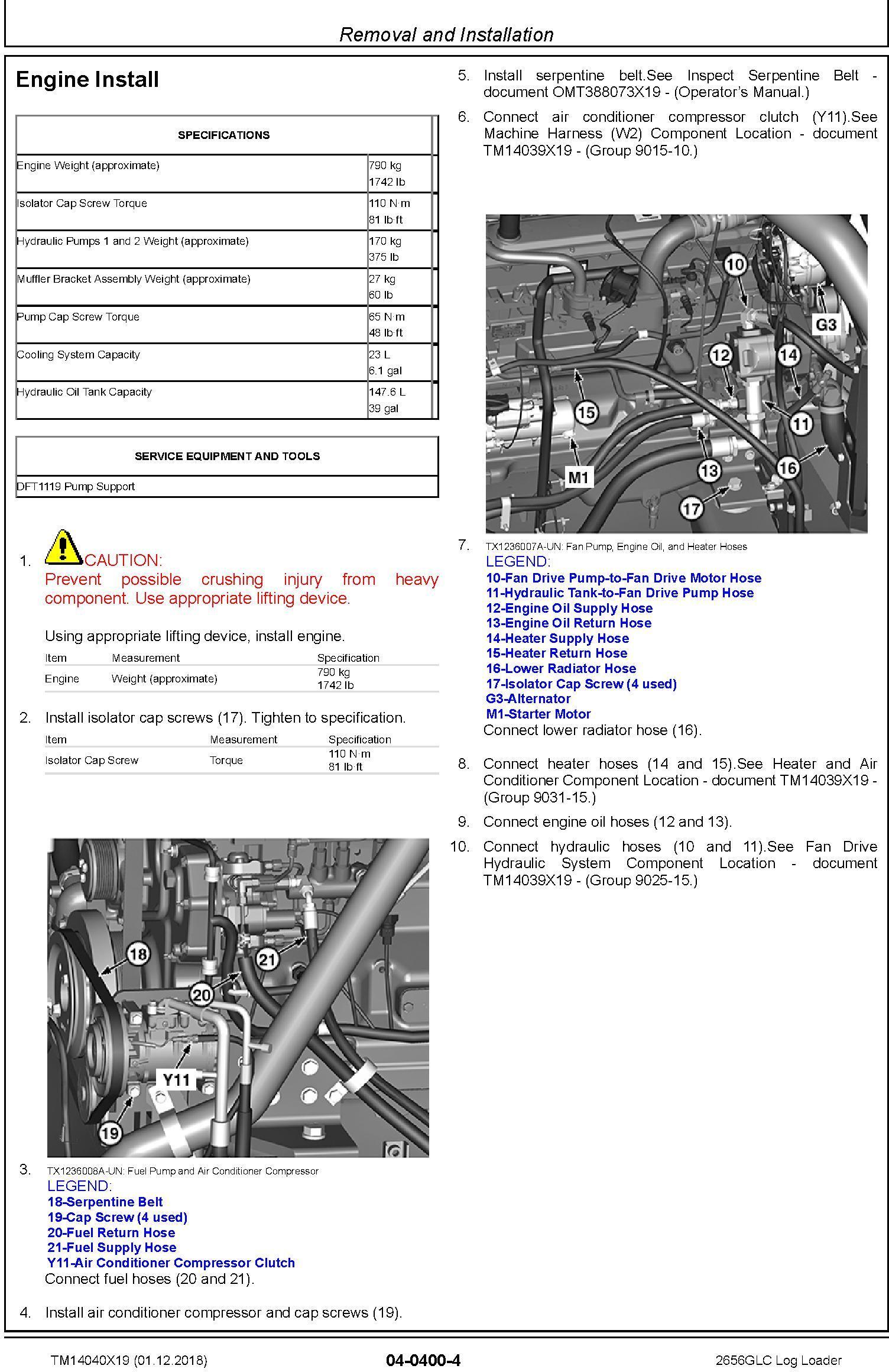 John Deere 2656GLC (SN. C266001-, D266001) Log Loader Repair Technical Service Manual (TM14040X19) - 3