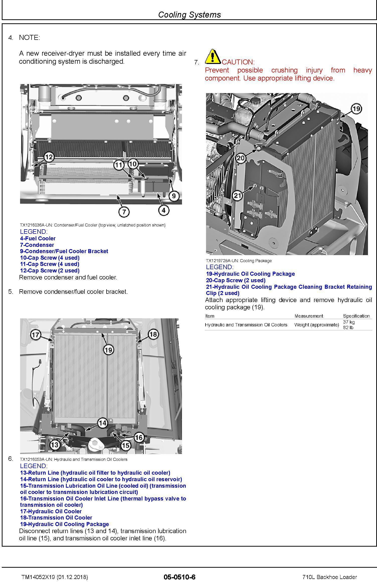 John Deere 710L (SN. from F294268) Backhoe Loader Service Repair Technical Manual (TM14052X19) - 3
