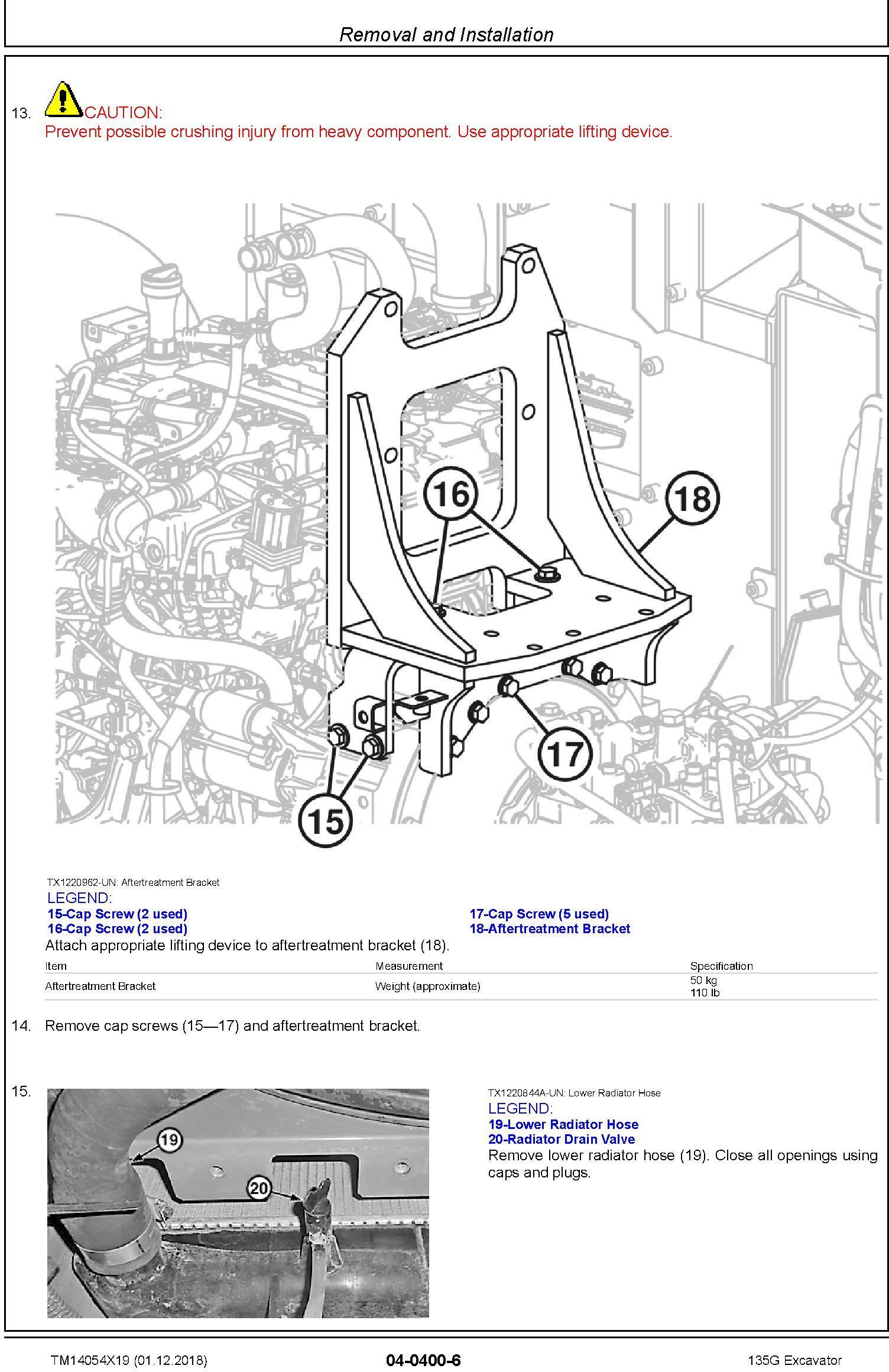 John Deere 135G (SN. from F500001) Excavator Service Repair Technical Manual (TM14054X19) - 3