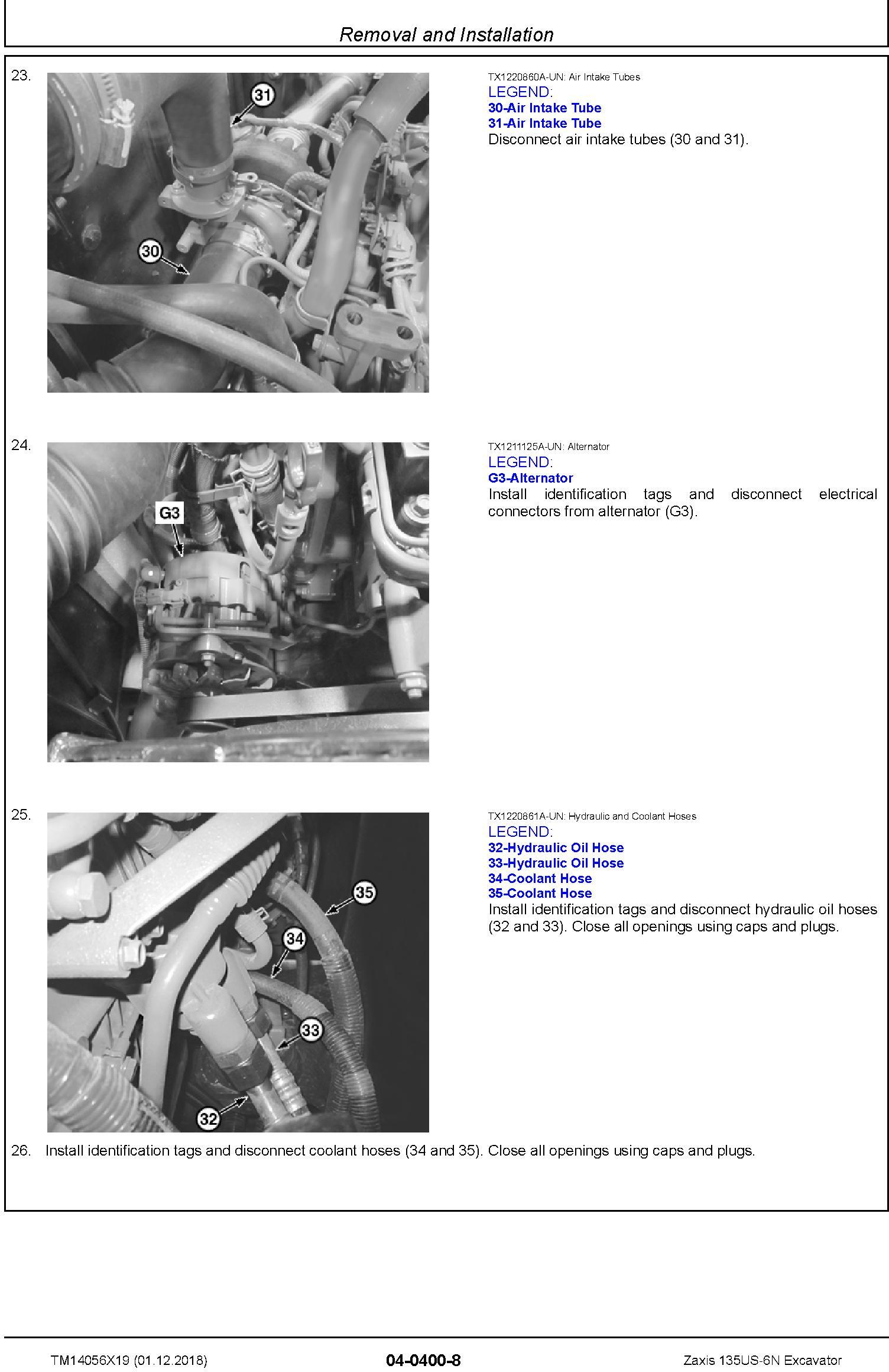 Hitachi Zaxis 135US-6N Excavator Service Repair Technical Manual (TM14056X19) - 2