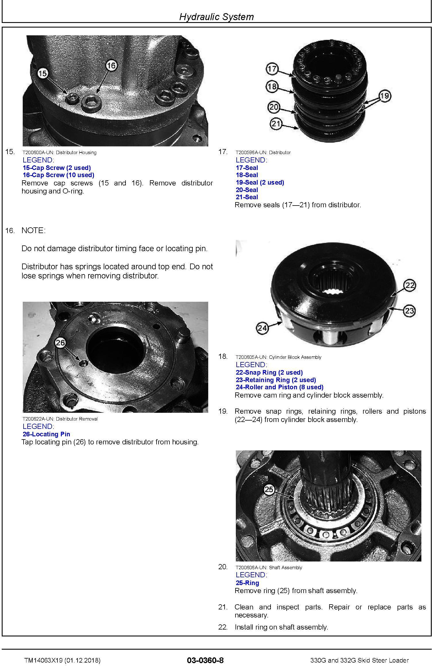 John Deere 330G and 332G Skid Steer Loader Repair Service Manual (TM14063X19) - 1