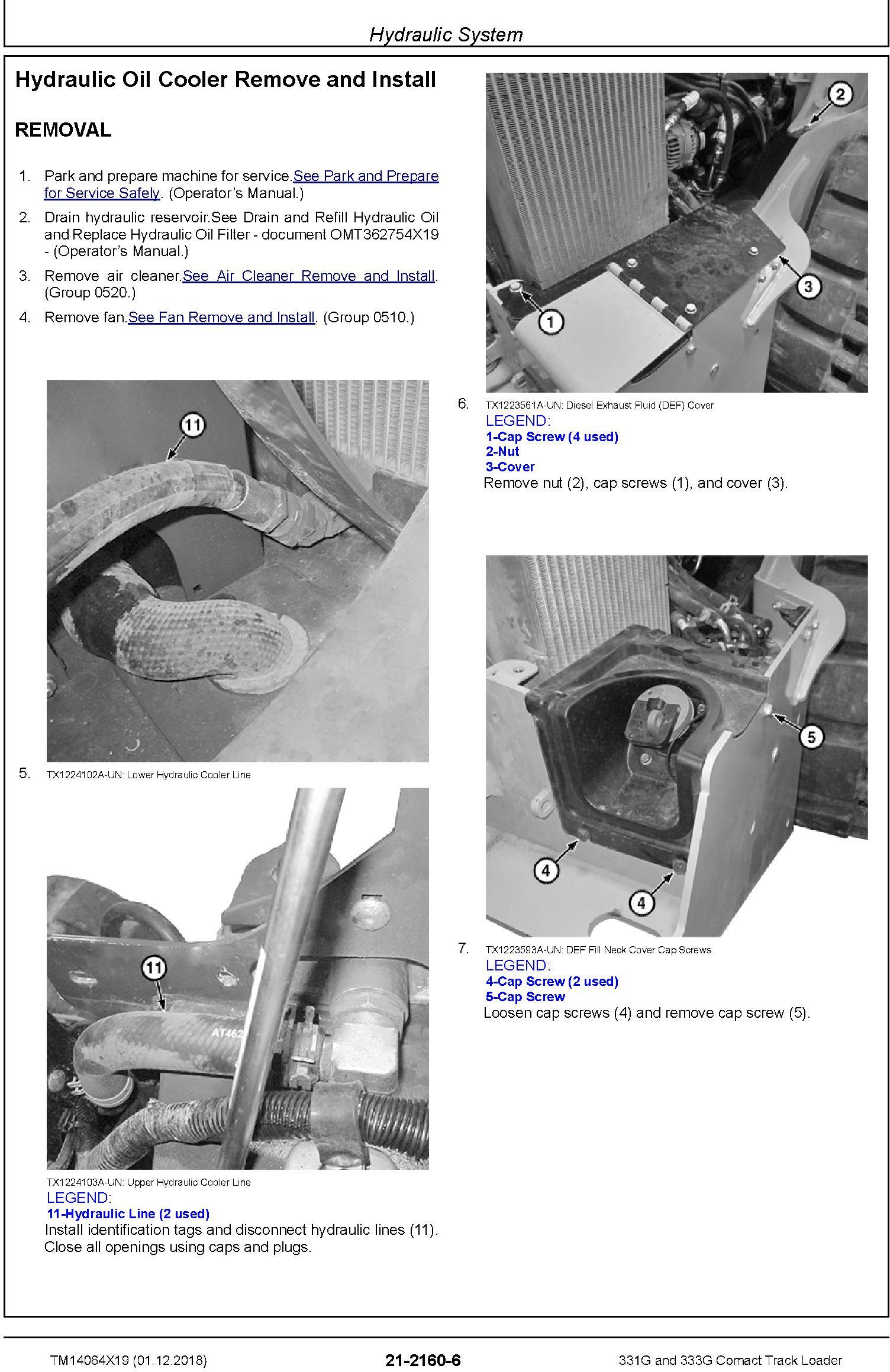 John Deere 331G and 333G Comact Track Loader Repair Service Manual (TM14064X19) - 3