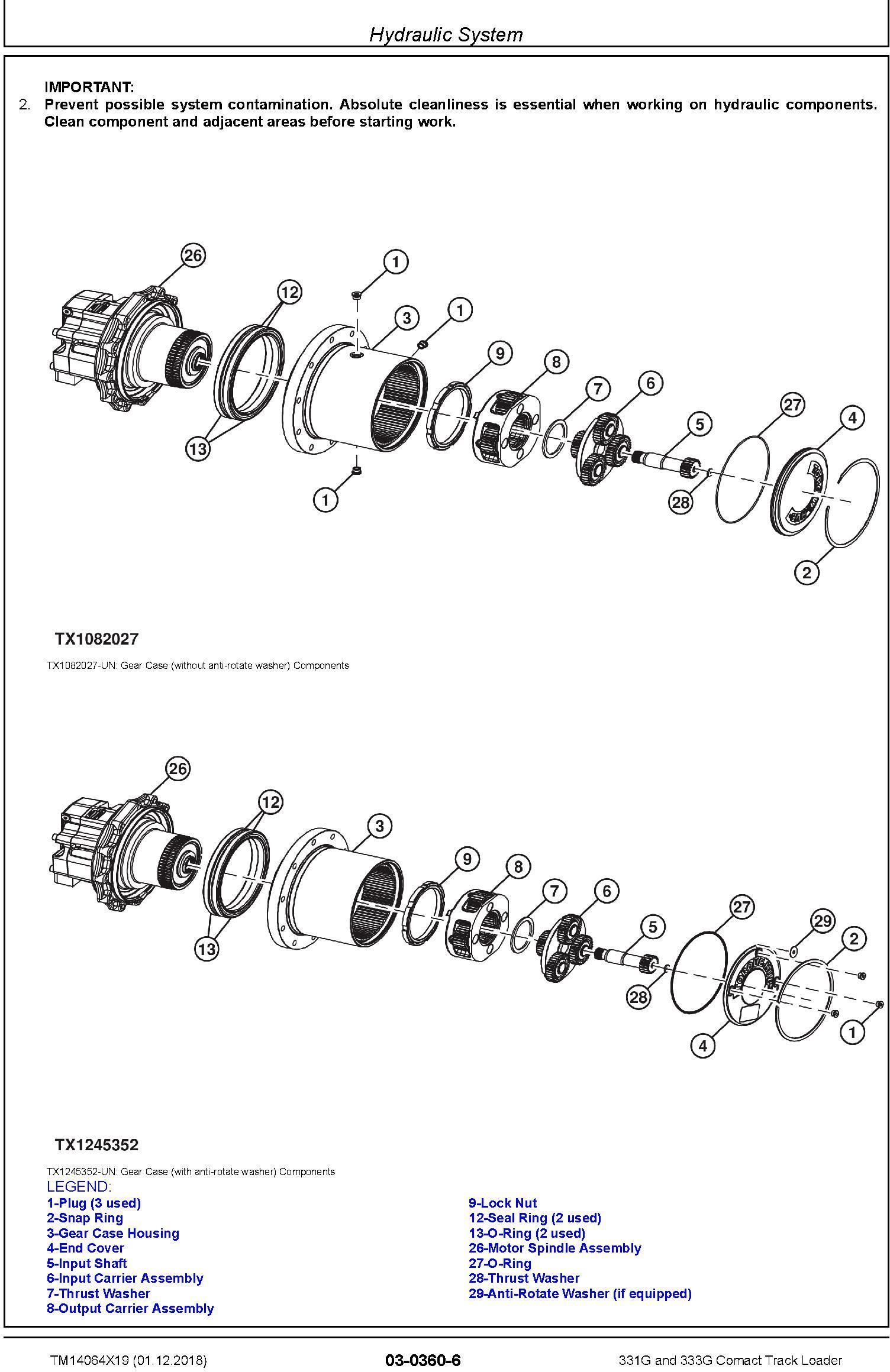 John Deere 331G and 333G Comact Track Loader Repair Service Manual (TM14064X19) - 1