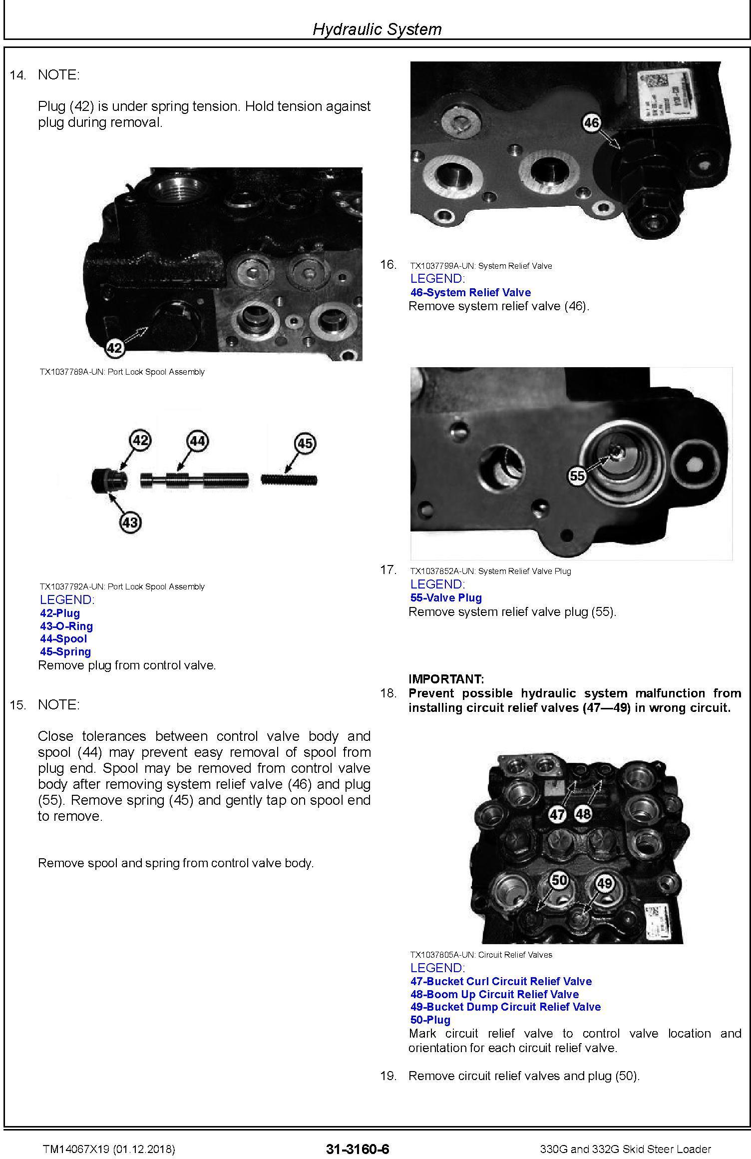 John Deere 330G and 332G Skid Steer Loader Service Repair Manual (TM14067X19) - 3