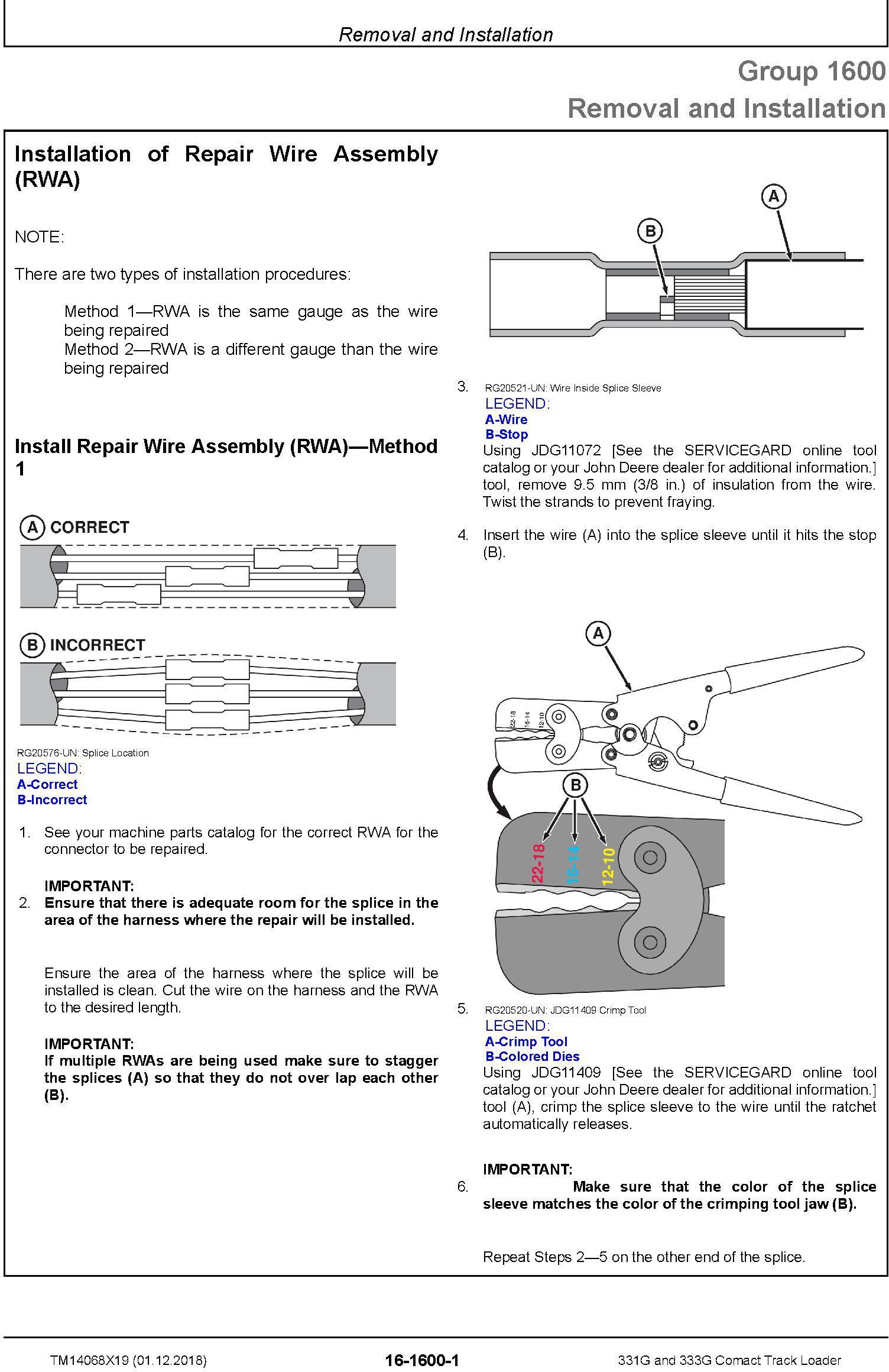 John Deere 331G and 333G Comact Track Loader Repair Service Manual (TM14068X19) - 3