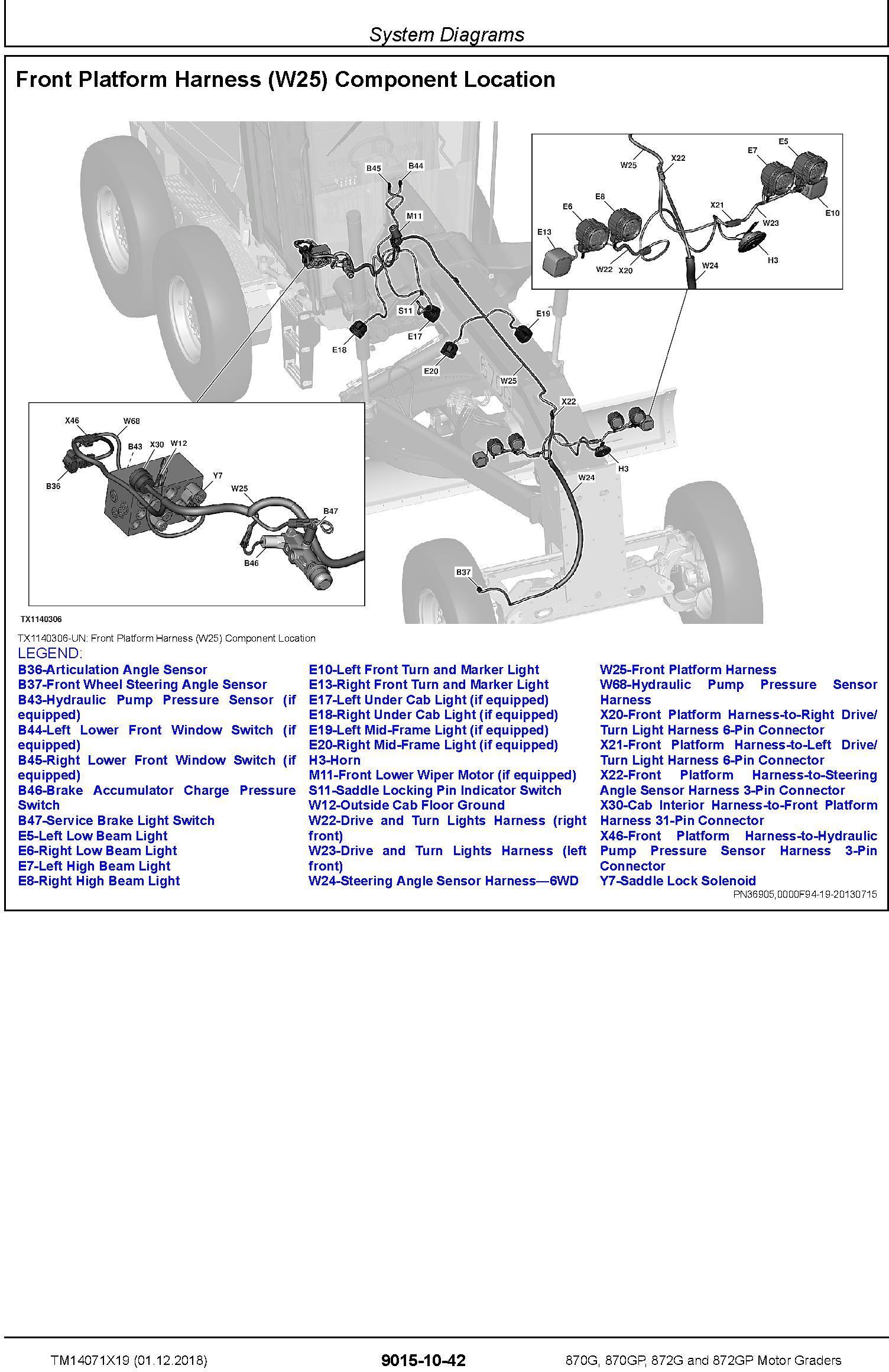 John Deere 870G, 870GP, 872G, 872GP (SN.F678818-680877) Motor Graders Diagnostic Manual (TM14071X19) - 1