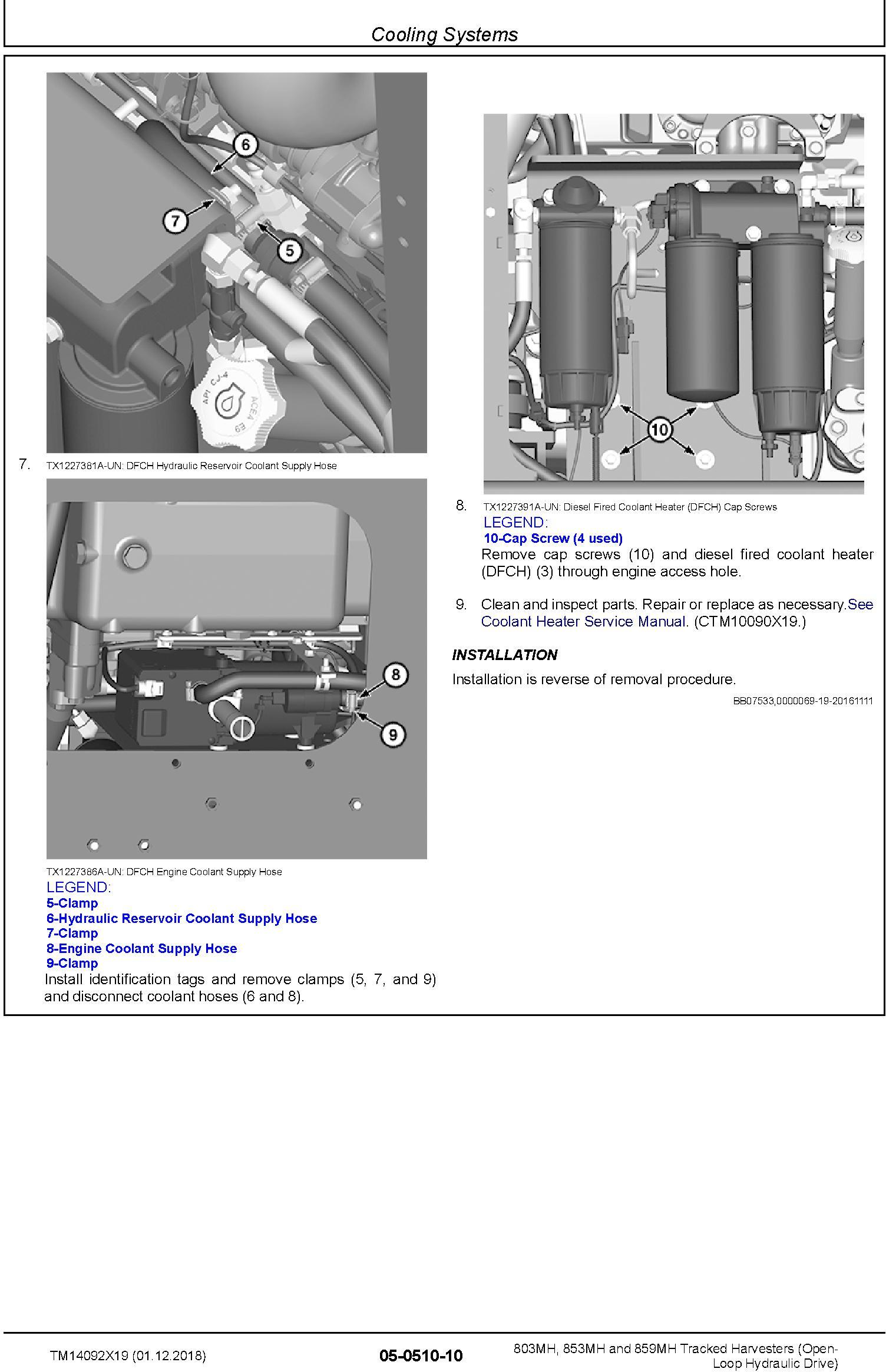 John Deere 803MH,853MH,859MH (SN. F293917-,L343918-) Harvesters (Open-Loop) Repair Manual TM14092X19 - 3