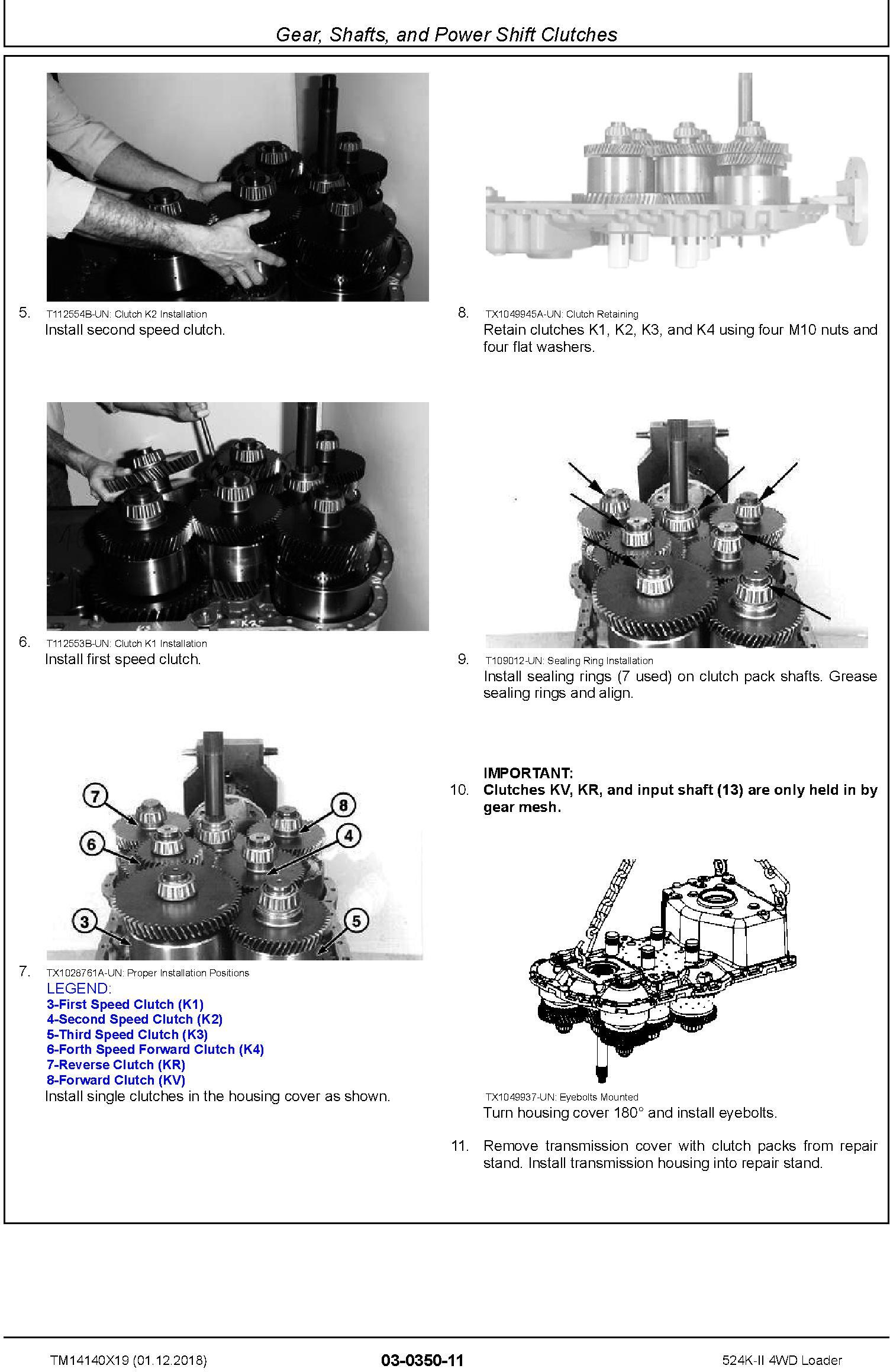 John Deere 524K-II (SN. F677549-) 4WD Loader Repair Technical Service Manual (TM14140X19) - 2