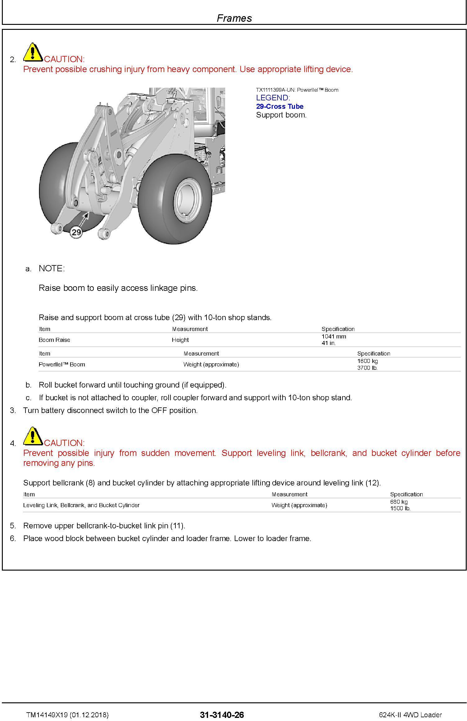 John Deere 624K-II (SN. C677549-; D677549-) 4WD Loader Repair Technical Service Manual (TM14149X19) - 1