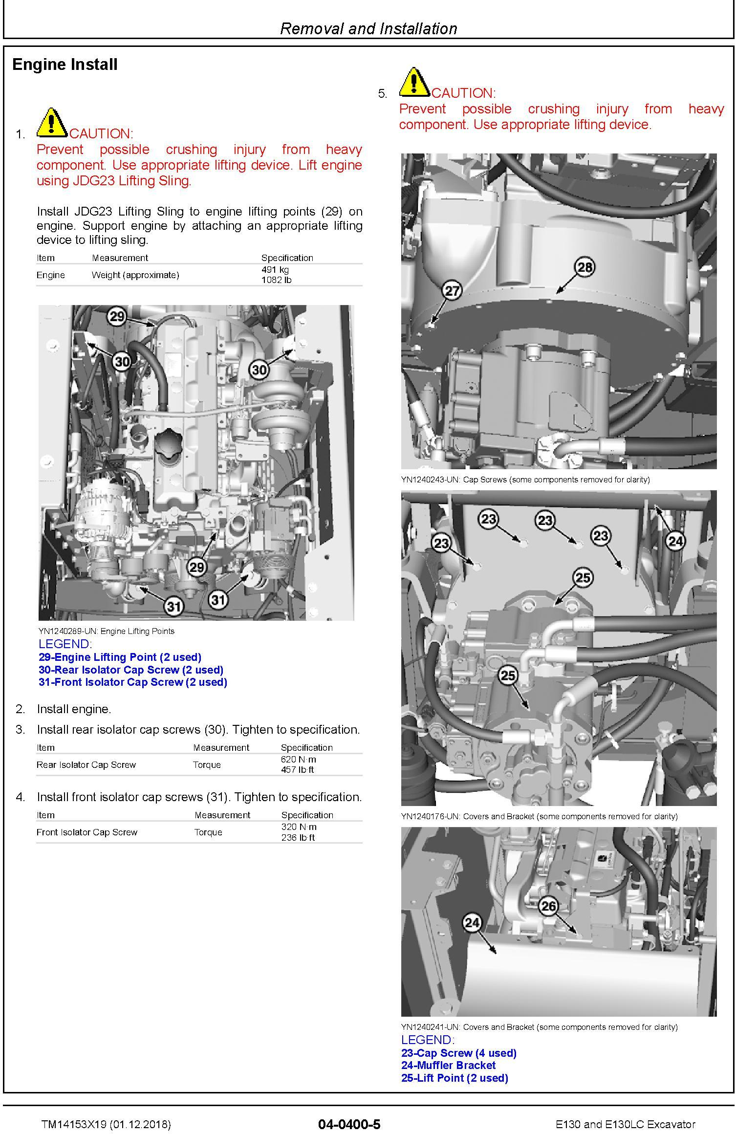 John Deere E130, E130LC (SN.from D300003) Excavator Repair Technical Manual (TM14153X19) - 3