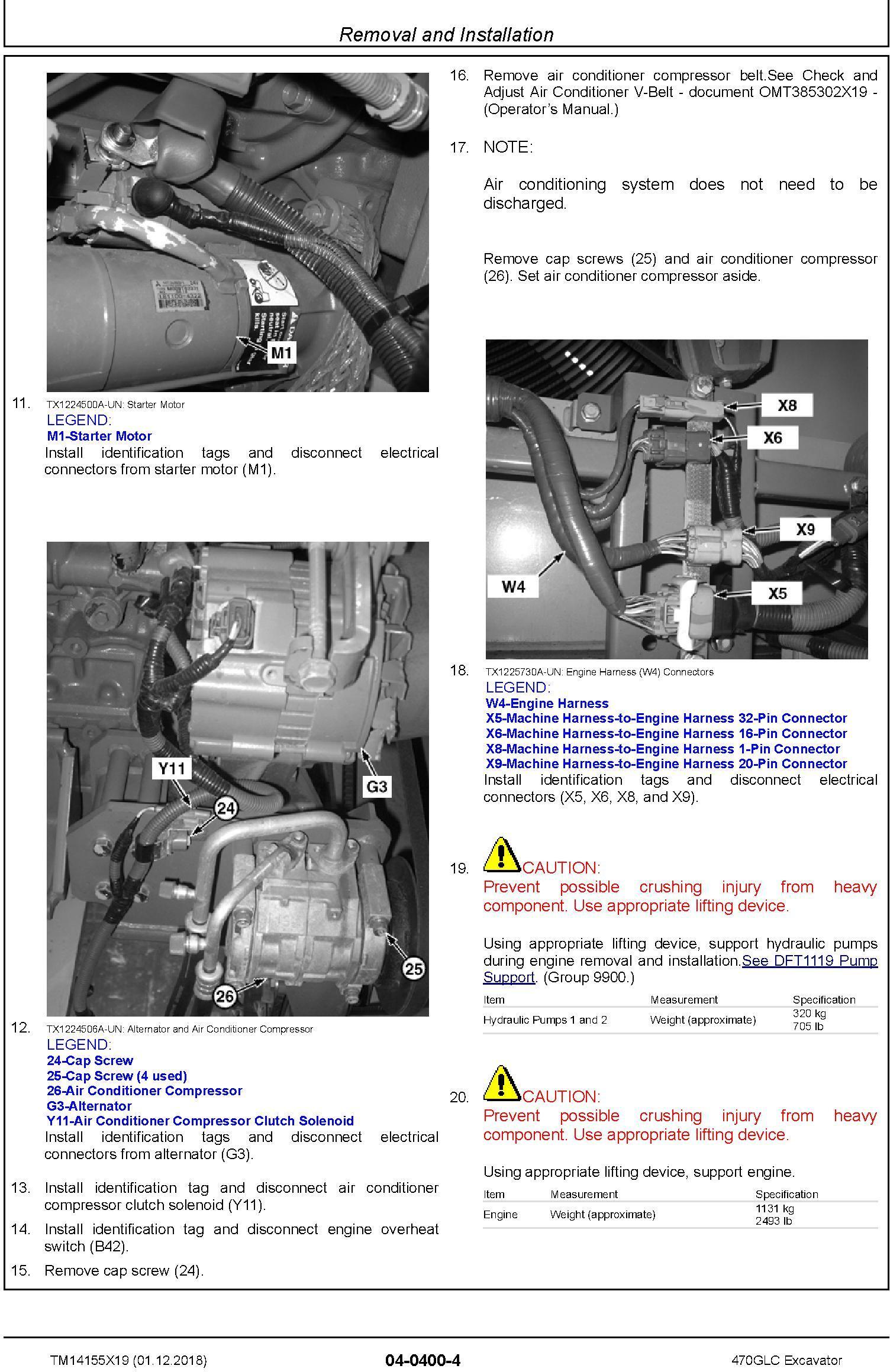 John Deere 470GLC (SN.from D473001) Excavator Service Repair Technical Manual (TM14155X19) - 2