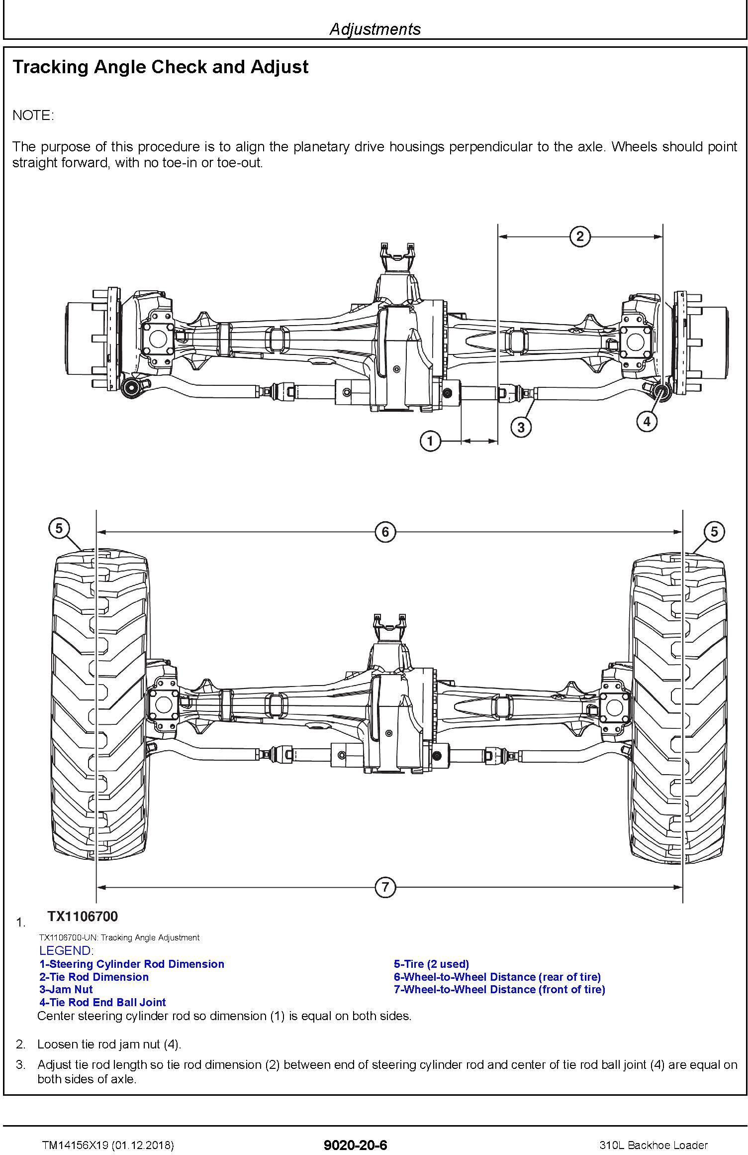 John Deere 310L (SN.C000001-,D000001-) Backhoe Loader Operation & Test Technical Manual (TM14156X19) - 1