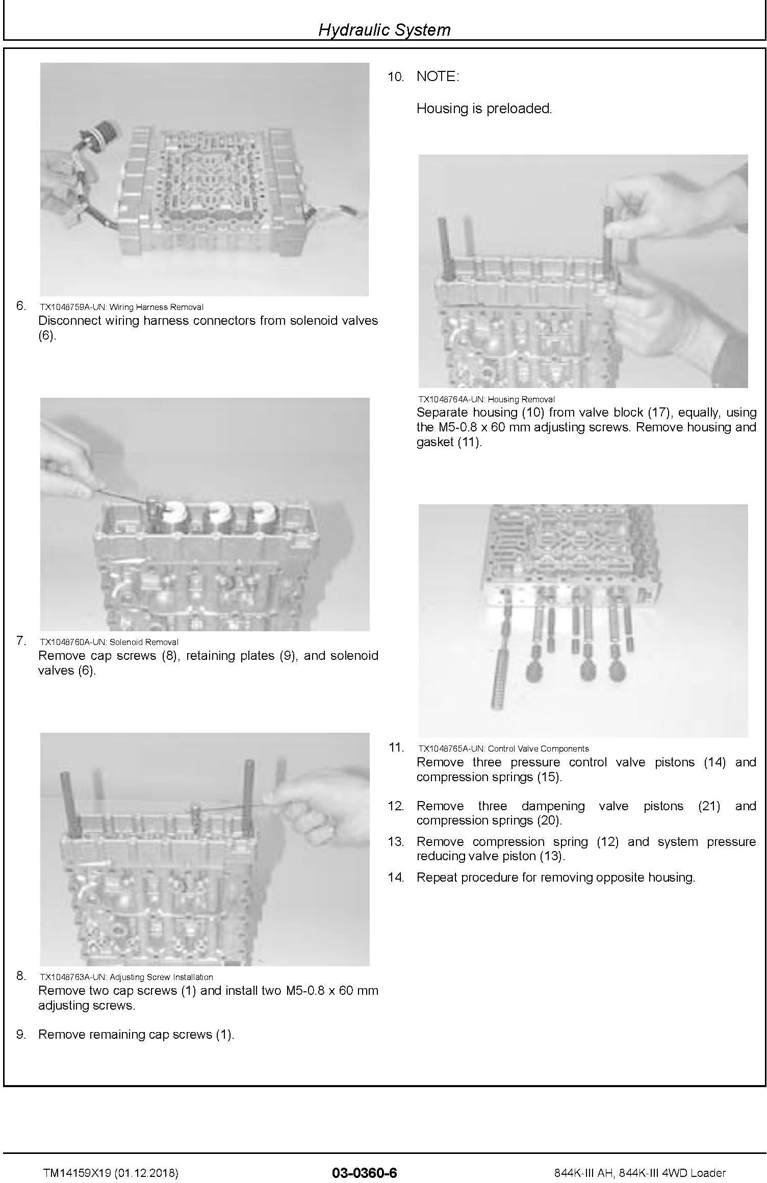 John Deere 844K-III (AH) SN. from F677782 4WD Loader Repair Technical Service Manual (TM14159X19) - 2