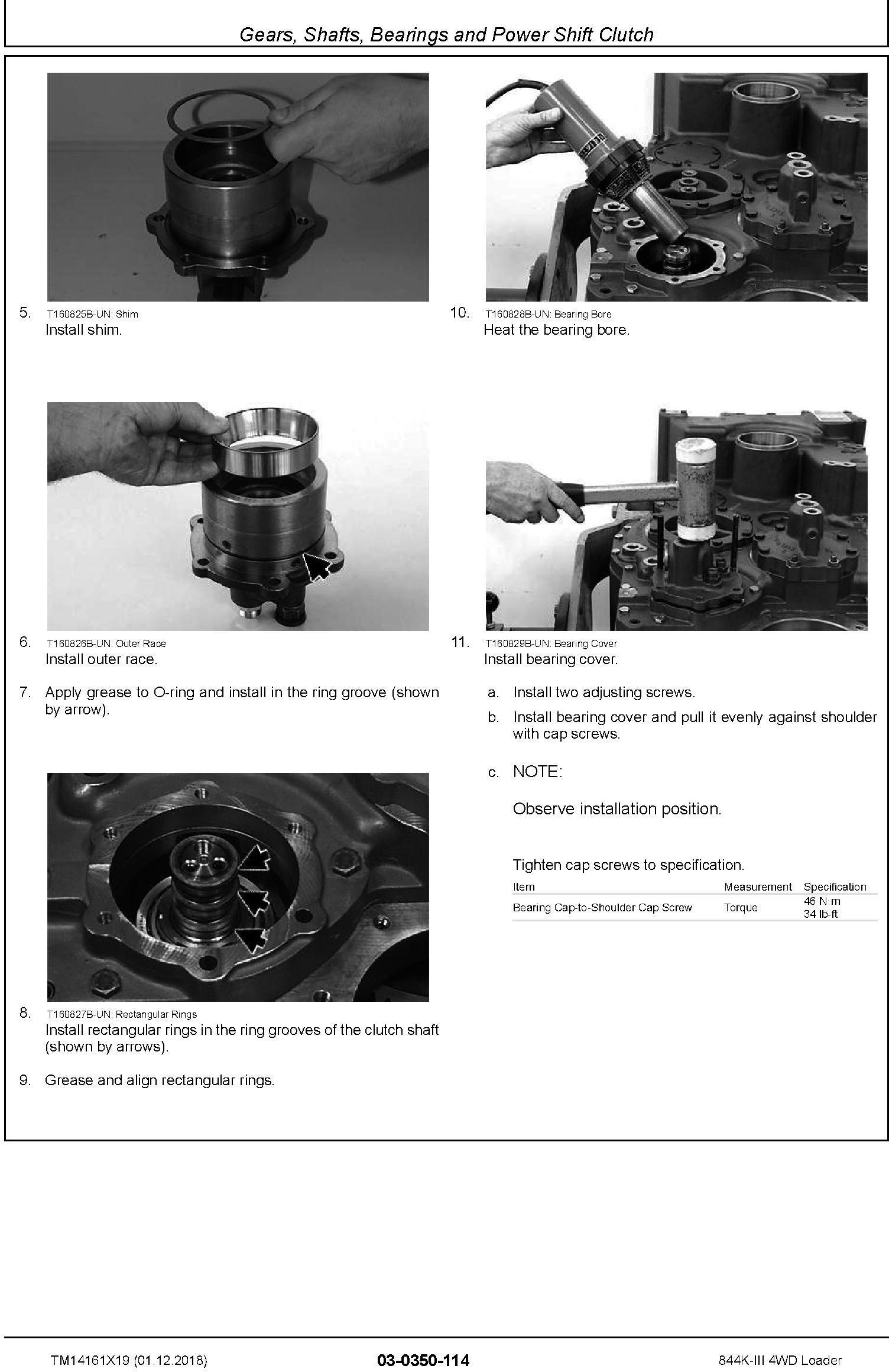 John Deere 844K-III (SN. D677782-) 4WD Loader Repair Technical Service Manual (TM14161X19) - 1