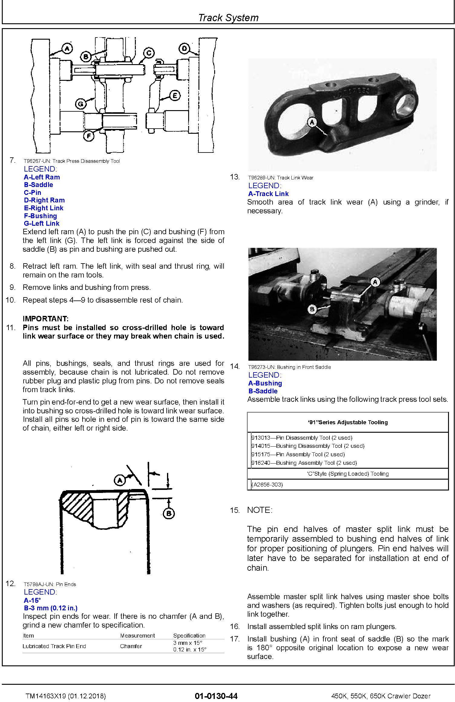 John Deere 450K, 550K, 650K (SN.F305399-) Crawler Dozer Repair Technical Service Manual (TM14163X19) - 2