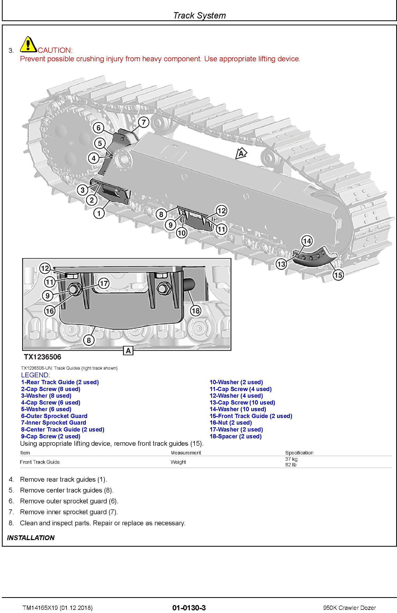 John Deere 950K (SN. F310401-338999) Crawler Dozer Service Repair Technical Manual (TM14165X19) - 1
