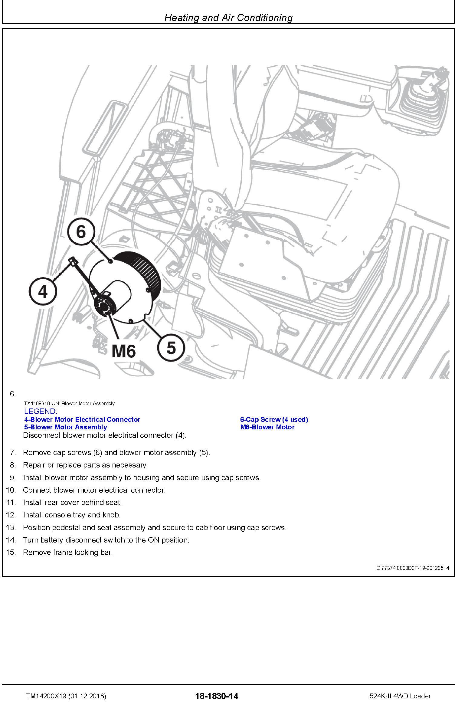John Deere 524K-II (SN. D001001-) 4WD Loader Repair Technical Service Manual (TM14200X19) - 2