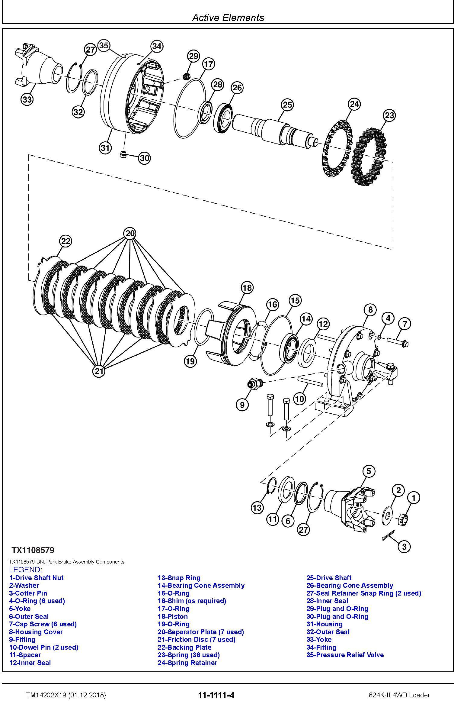 John Deere 624K-II (SN. C001001-; D001001-) 4WD Loader Repair Technical Service Manual (TM14202X19) - 2