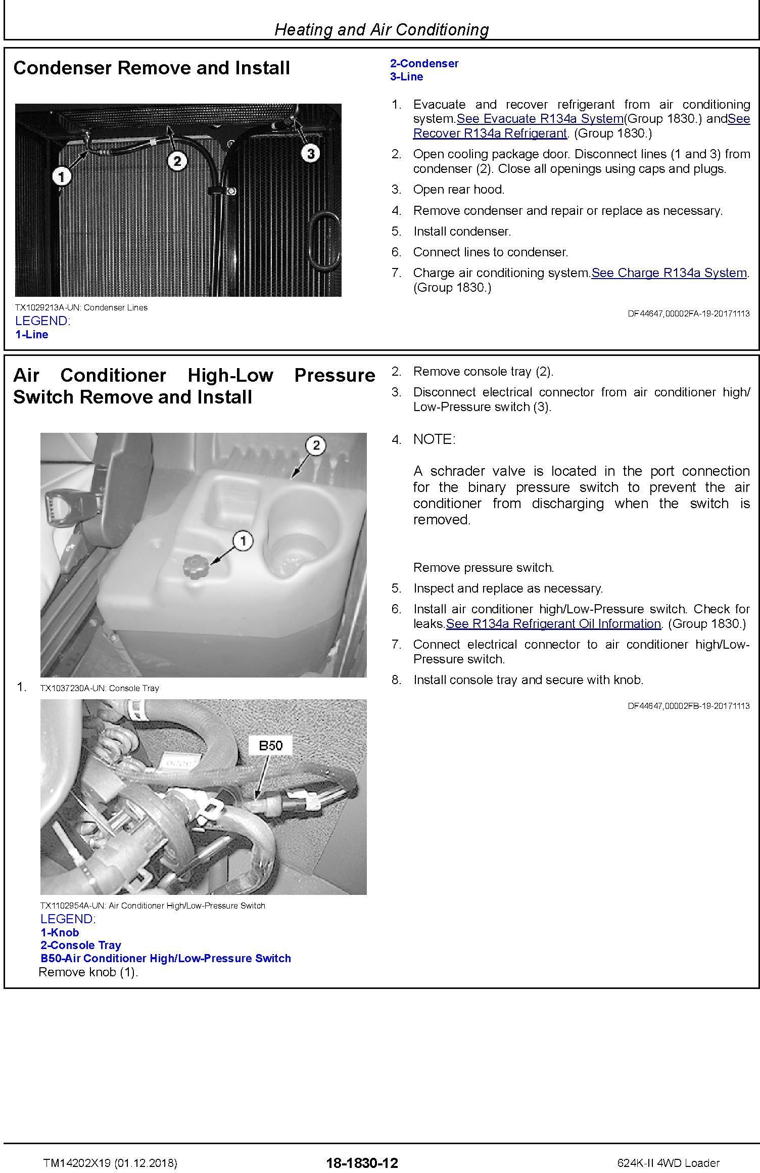 John Deere 624K-II (SN. C001001-; D001001-) 4WD Loader Repair Technical Service Manual (TM14202X19) - 3