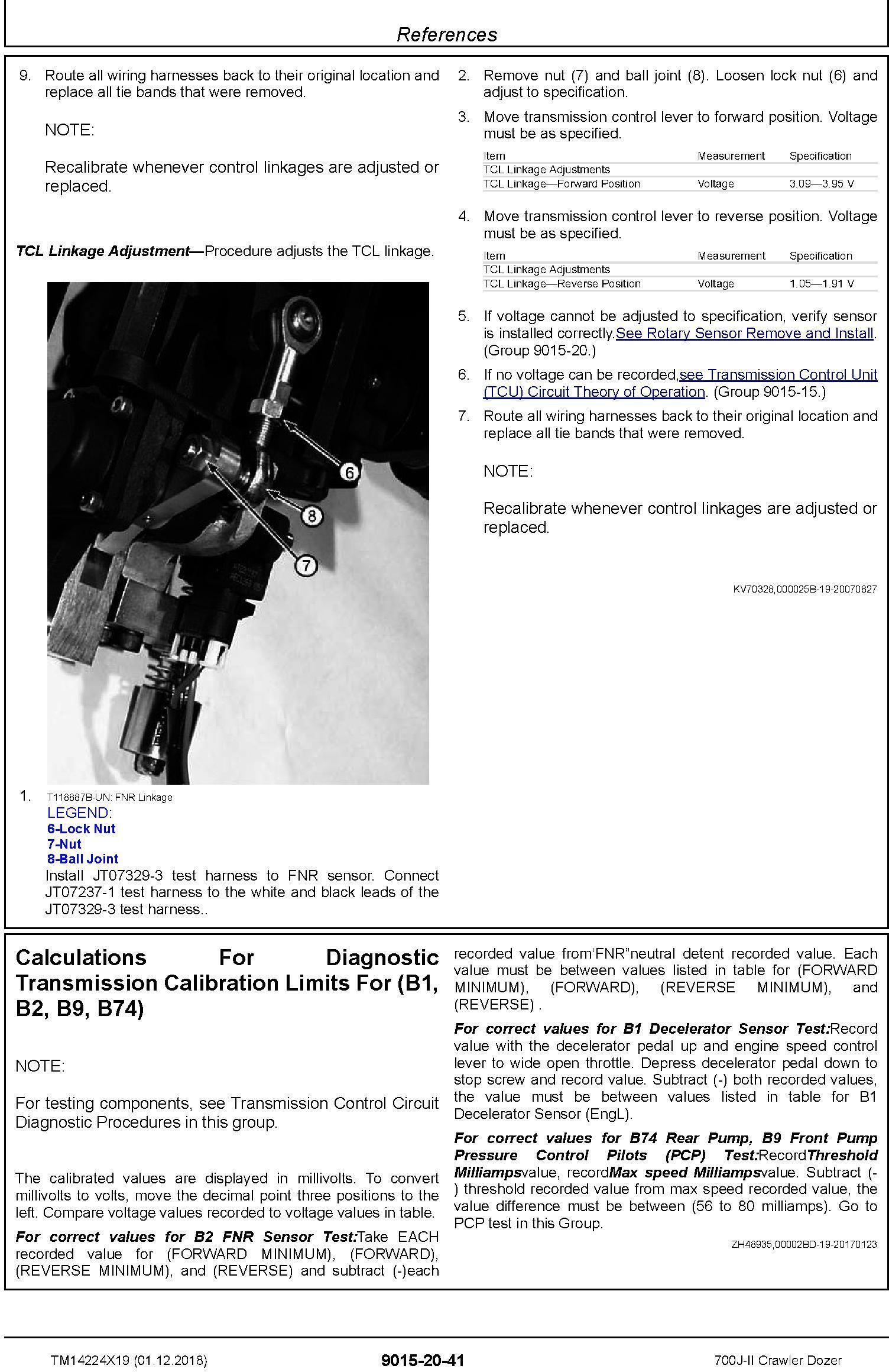 John Deere 700J-II (SN. from D306726) Crawler Dozer Operation & Test Technical Manual (TM14224X19) - 3
