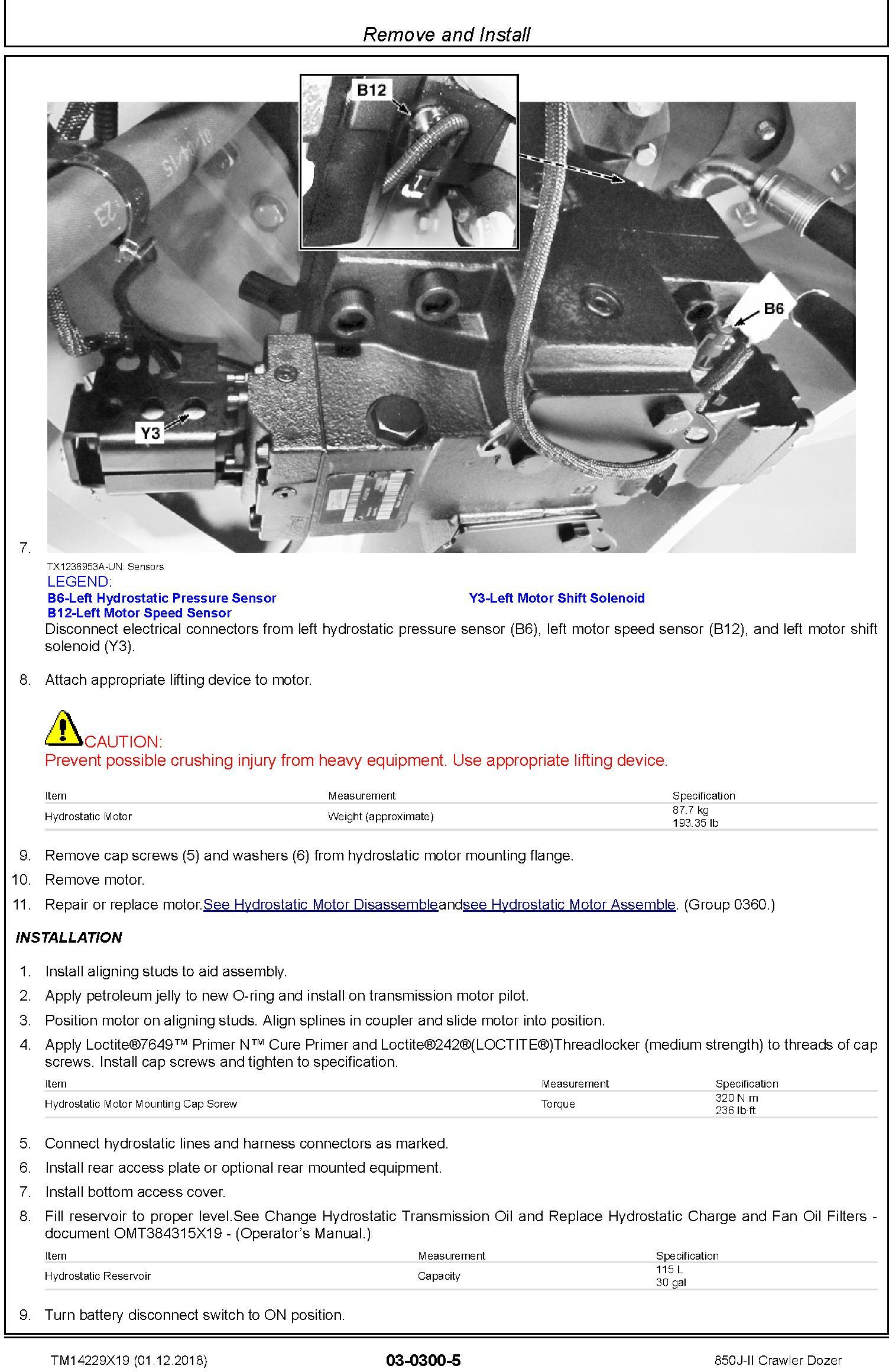 John Deere 850J-II (SN. C306799-354851) Crawler Dozer Repair Technical Service Manual (TM14229X19) - 3