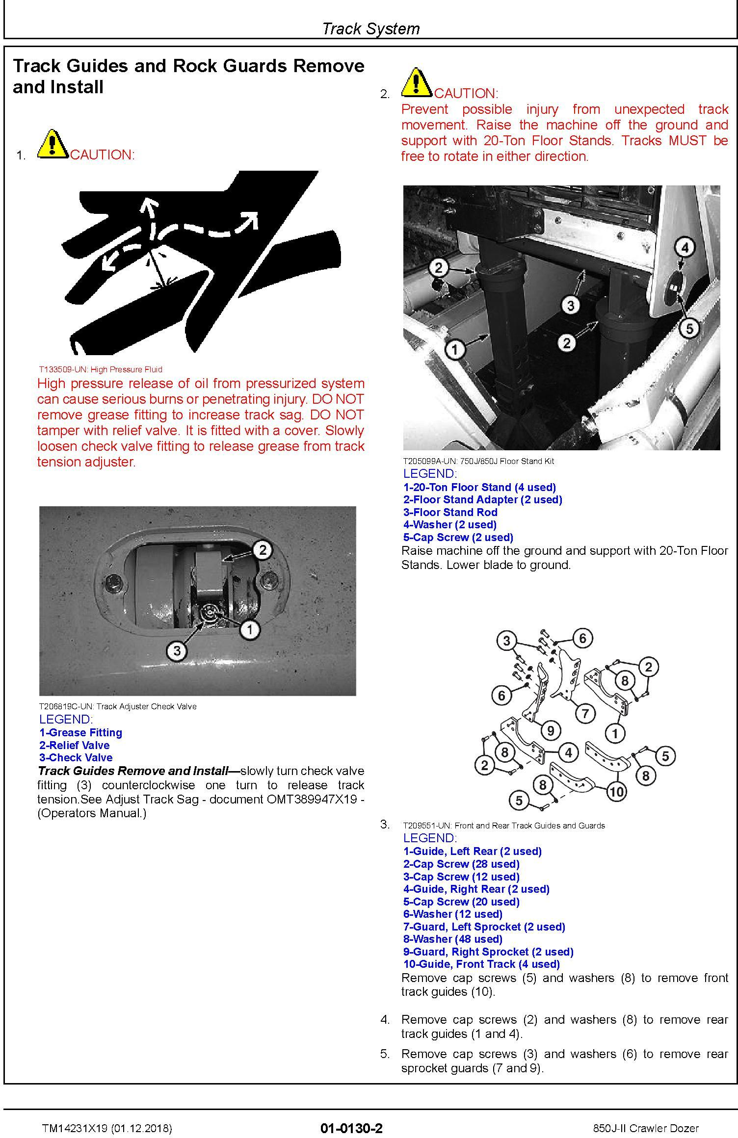 John Deere 850J-II (SN. D306725-323043) Crawler Dozer Service Repair Technical Manual (TM14231X19) - 1